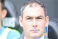 Swansea City manager Paul Clement prior to kick off of the Premier League match between Swansea City and Huddersfield Town at The Liberty Stadium, Swansea, Wales, UK. Saturday 14 October 2017