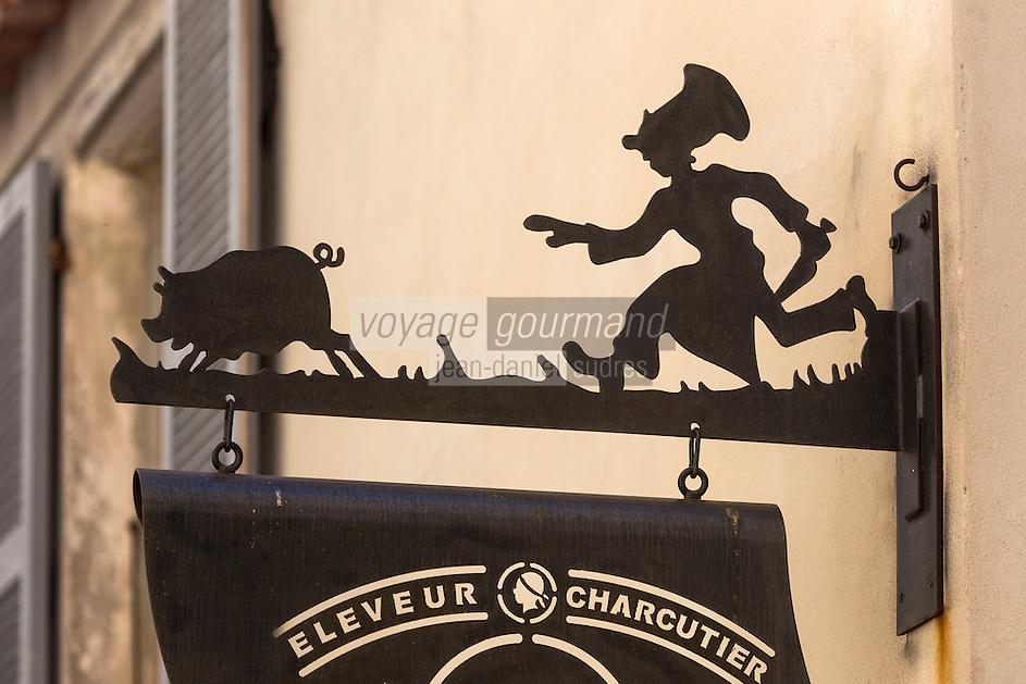 Europe/France/2A/Corse du Sud/Bonifacio: Comptoir Bonifacien, Enseigne charcutier