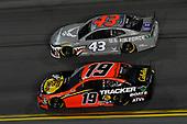 #19: Martin Truex Jr., Joe Gibbs Racing, Toyota Camry Bass Pro Shops, #43: Darrell Wallace Jr., Richard Petty Motorsports, Chevrolet Camaro United States Air Force