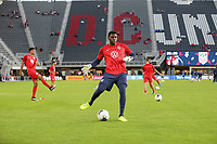 WASHINGTON, D.C. - OCTOBER 11: Sean Johnson #12 of the United States warming up during their Nations League match versus Cuba at Audi Field, on October 11, 2019 in Washington D.C.