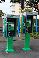 South Africa, Cape Town, Sea Point.  Public Phones Using Pre-paid Phone Cards in 2013.