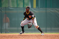 Pittsburgh Pirates Ke'Bryan Hayes (10) during a minor league Spring Training game against the Toronto Blue Jays on March 24, 2016 at Pirate City in Bradenton, Florida.  (Mike Janes/Four Seam Images)