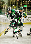 24 October 2015: University of North Dakota Forward Johnny Simonson, a Sophomore from Grand Forks, ND, in second period action against the University of Vermont Catamounts at Gutterson Fieldhouse in Burlington, Vermont. North Dakota defeated the Catamounts 5-2 in the second game of their weekend series. Mandatory Credit: Ed Wolfstein Photo *** RAW (NEF) Image File Available ***
