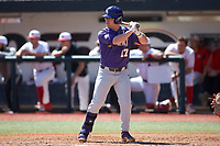 Chris Reid (17) of the LSU Tigers at bat against the Georgia Bulldogs at Foley Field on March 23, 2019 in Athens, Georgia. The Bulldogs defeated the Tigers 2-0. (Brian Westerholt/Four Seam Images)