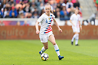 Houston, TX - Sunday April 08, 2018: Becky Sauerbrunn during an International Friendly soccer match between the USWNT and Mexico at BBVA Compass Stadium.