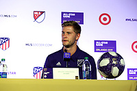 Orlando, Florida - Monday July 29, 2019: The MLS All-Stars during the MLS All-Star Game Press Conference at Exploria Stadium.