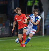 Blackburn Rovers' Joseph Rankin-Costello (right) battles for possession with Luton Town's George Moncur (left) <br /> <br /> Photographer David Horton/CameraSport<br /> <br /> The EFL Sky Bet Championship - Luton Town v Blackburn Rovers - Saturday 21st November 2020 - Kenilworth Road - Luton<br /> <br /> World Copyright © 2020 CameraSport. All rights reserved. 43 Linden Ave. Countesthorpe. Leicester. England. LE8 5PG - Tel: +44 (0) 116 277 4147 - admin@camerasport.com - www.camerasport.com