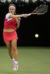 Russia's Svetlana Kuznetsova during her WTA Madrid Masters Series Tennis match against Russia's Maria Sharapova at Madrid Arena, Friday 10 November, 2006. (ALTERPHOTOS/Alvaro Hernandez).