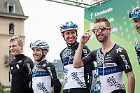 Victor Campenaerts (BEL/Qhubeka-Nexthash) being wild at the race start in Como<br /> <br /> 115th Il Lombardia 2021 (1.UWT)<br /> One day race from Como to Bergamo (ITA/239km)<br /> <br /> ©kramon