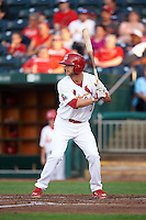 Springfield Cardinals second baseman Bruce Caldwell (7) at bat during a game against the Frisco RoughRiders  on June 4, 2015 at Hammons Field in Springfield, Missouri.  Frisco defeated Springfield 8-7.  (Mike Janes/Four Seam Images)