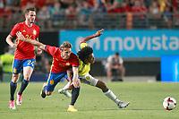 Spain's Saul Niguez, Nacho Monreal (c) and Colombia's Juan Guillermo Cuadrado during international friendly match. June 7,2017.(ALTERPHOTOS/Acero) (NortePhoto.com) (NortePhoto.com)