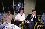 EMILIO FEDE CON FEDELE CONFALONIERI E FERRUCIO DE BORTOLI<br /> FESTA PER I 60 ANNI DI MAURIZIO COSTANZO<br /> MANEGGIO DI GIANNELLA  1998