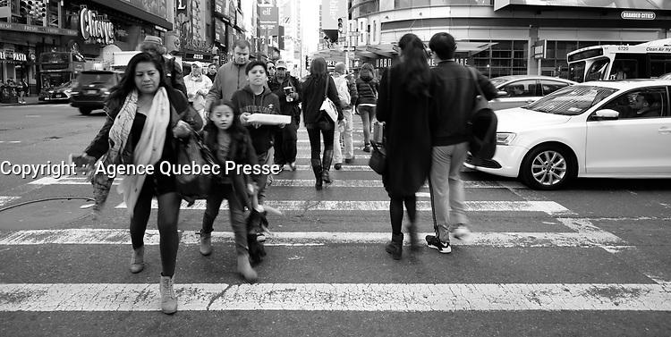 Photographie de rue <br /> Street photography<br /> NEW YORK, USA<br /> <br /> PHOTO : Agence Quebec Presse