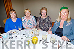Nodie O'Brien (Ballyduff), Mary Ward (Rathoonane), Helena Leahy (Killerisk) and Mary Jennings (Kevin Barrys Villas) supporting the Tralee Branch of the Irish Wheelchair Associations Christmas Party in the Meadowlands Hotel on Sunday.