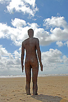 Anthony Gormley sculptures at Sefton Beach. Another Place.