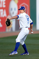 Lindsey Caughel #29 of the Rancho Cucamonga Quakes warms up before pitching against the Stockton Ports at LoanMart Field on June 13, 2013 in Rancho Cucamonga, California. Stockton defeated Rancho Cucamonga, 8-4. (Larry Goren/Four Seam Images)