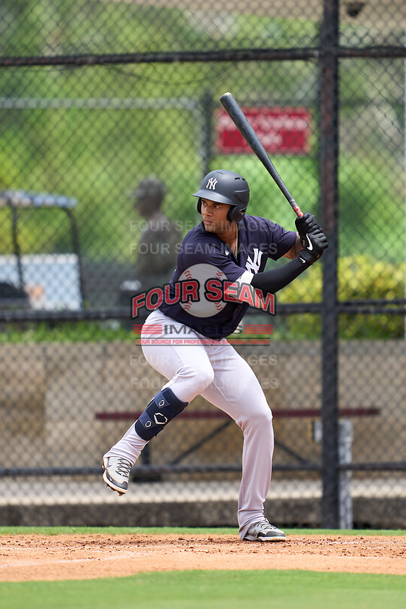 New York Yankees Anthony Garcia (66) bats during an Extended Spring Training game against the Philadelphia Phillies on June 22, 2021 at the Carpenter Complex in Clearwater, Florida. (Mike Janes/Four Seam Images)