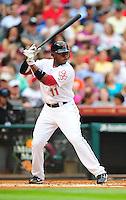 Apr. 30, 2011; Houston, TX, USA: Houston Astros outfielder (11) Jason Bourgeois against the Milwaukee Brewers at Minute Maid Park. Mandatory Credit: Mark J. Rebilas-