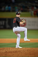 Birmingham Barons relief pitcher Hunter Schryver (23) during a Southern League game against the Chattanooga Lookouts on May 2, 2019 at Regions Field in Birmingham, Alabama.  Birmingham defeated Chattanooga 4-2.  (Mike Janes/Four Seam Images)