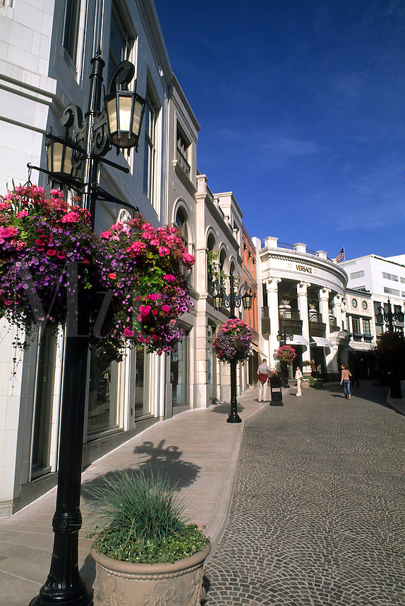 Rodeo Drive shopping in upscale Beverly Hills Hollywood Los Angeles California