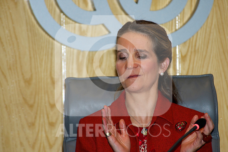 Princess Elena attends the eption at the Spanish Paralympic Team athletes participating in Paralympic Winter Games Vancouver at the ONCE Foundation in Madrid..Photo: Billy Chappel / ALFAQUI
