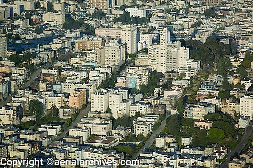 aerial photograph of the Russian Hill neighborhood, San Francisco, California