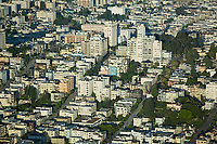 aerial photograph of the Russian Hill neighborhood, San Francisco, California