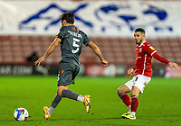21st November 2020, Oakwell Stadium, Barnsley, Yorkshire, England; English Football League Championship Football, Barnsley FC versus Nottingham Forest;  Yuri Ribeiro of Nottingham Forrest on the ball