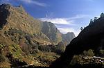 Portugal, Madeira, Blick von Curral das Freiras nach Sueden   Portugal, Madeira, view from Curral das Freiras south