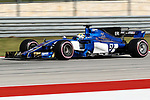 Sauber driver Marcus Ericsson (9) of Sweden in action during qualifying before this weekends Formula 1 United States Grand Prix race at the Circuit of the Americas race track in Austin,Texas.