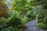 Gravel path through the Memory Garden at Marin Art and Garden Center, Ross, California