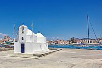 The church Agios Nikolaos in the port of Aegina island, Greece