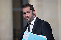 French Junior Minister for the Relations with Parliament and Government Spokesperson Christophe Castaner arrives to the Elysee presidential palace for the weekly cabinet meeting on Wednesday, 28 June 2017 in Paris # CONSEIL DES MINISTRES DU 28/06/2017
