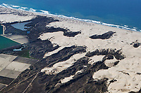 aerial photograph of dunes, Oso Flaco Lake, Arroyo Grande, San Luis Obispo County, California