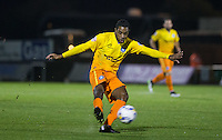 Jason Banton of Wycombe Wanderers fires a shot at goal during the Johnstone's Paint Trophy match between Bristol Rovers and Wycombe Wanderers at the Memorial Stadium, Bristol, England on 6 October 2015. Photo by Andy Rowland.