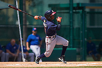 Atlanta Braves Ozhaino Albies (7) during an instructional league game against the Toronto Blue Jays on September 30, 2015 at the ESPN Wide World of Sports Complex in Orlando, Florida.  (Mike Janes/Four Seam Images)
