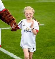 Saturday 7th September 2019 | Ulster  vs Glasgow<br /> <br /> Mascots during the pre-season friendly between Ulster and Glasgow at Kingspan Stadium, Ravenhill Park, Belfast, Northern Ireland. Photo by Oliver McVeigh / DICKSONDIGITAL
