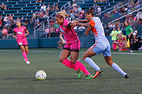 Rochester, NY - Saturday Aug. 27, 2016: Poliana Barbosa during a regular season National Women's Soccer League (NWSL) match between the Western New York Flash and the Houston Dash at Rochester Rhinos Stadium.