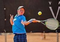 Netherlands, Rotterdam August 07, 2015, Tennis,  National Junior Championships, NJK, TV Victoria, Daan van Dijk<br /> Photo: Tennisimages/Henk Koster