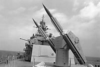 """- Italian Navy, Vittorio Veneto cruiser, anti-aircraft missile launcher """"Standard"""" (May 1984)<br /> <br /> - Marina Militare Italiana, incrociatore Vittorio Veneto, lanciatore di missili antiaerei """"Standard"""" (Maggio 1984)"""