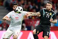 Spain's Diego Costa (l) and Argentina's Nicolas Otamendi during international friendly match. March 27,2018.(ALTERPHOTOS/Acero) /NortePhoto.com NORTEPHOTOMEXICO