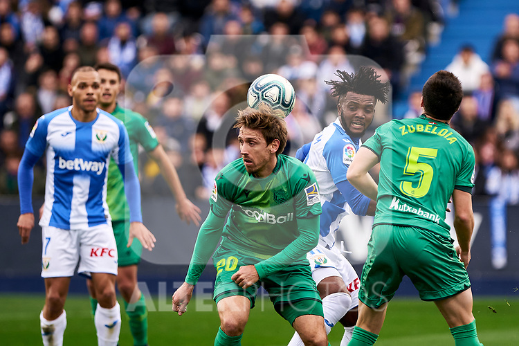 Chidozie Collins Awaziem of CD Leganes and Nacho Monreal of Real Sociedad