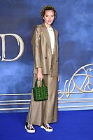 "Phoebe Collings-James<br /> arriving for the ""Fantastic Beasts: The Crimes of Grindelwald"" premiere, Leicester Square, London<br /> <br /> ©Ash Knotek  D3459  13/11/2018"