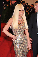 Donatella Versace at the 'Schiaparelli And Prada: Impossible Conversations' Costume Institute Gala at the Metropolitan Museum of Art on May 7, 2012 in New York City. ©mpi03/MediaPunch Inc.