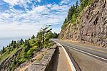 U.S. Highway 101 along the Oregon Coast.  Near Manzanita, Pacific Beach, Lincoln City, Depot Bay and Newport.  Rockwork Viewpoint.