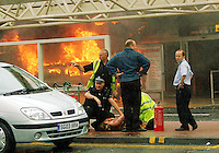 An NHS doctor has been convicted of plotting to bring chaos and murder to London and Glasgow Airport by setting off massive car bombs. A jury at Woolwich Crown Court found Bilal Abdulla guilty of plotting the home-made bomb attacks in 2007. Another NHS doctor, Mohammed Asha, was cleared of helping Abdulla and a second attacker, Kafeel Ahmed. Ahmed died following the Glasgow attack on 30 June 2007, a day after he and Abdulla had attacked London's West End..Picture Desk***MANDATORY CREDIT*** 50% Fee Will Be Added If Not Credited...Picture: www.universalnewsandsport.com..0844 884 51 22 ..
