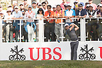 Tommy Fleetwood of England tees off the first hole during the 58th UBS Hong Kong Golf Open as part of the European Tour on 11 December 2016, at the Hong Kong Golf Club, Fanling, Hong Kong, China. Photo by Vivek Prakash / Power Sport Images