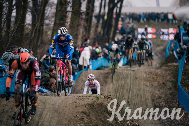 STYBAR Zdeněk (CZE/Deceuninck-Quick Step) coming down the dirt jump section<br /> <br /> GP Sven Nys (BEL) 2019<br /> DVV Trofee<br /> ©kramon
