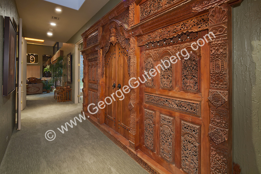 Antique ornatly carved East Indian or Asian doors