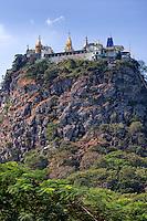 Myanmar, Burma.  Mount Popa Monastery.